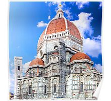 Santa Maria del Fiore cathedral in Florence Poster
