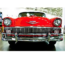 Classic Red Chevrolet Auto Show Photographic Print