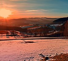 A winter sundown by Patrick Jobst
