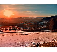 Colorful winter wonderland sundown II | landscape photography Photographic Print