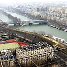 Seine seen from Eiffel by magiceye