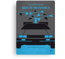 No183 My Back to the Future minimal movie poster-part II Canvas Print