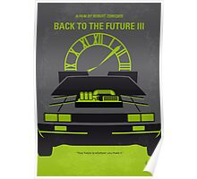 No183 My Back to the Future minimal movie poster-part III Poster
