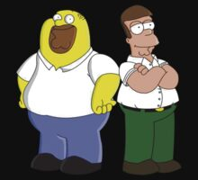 Homer and Peter by Danyashal