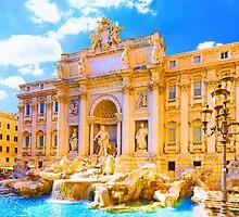 Rome, Italy - Trevi Fountain by JessicaRoss