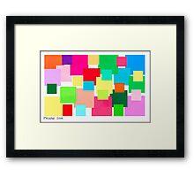 COLOUR CUBE ART Framed Print