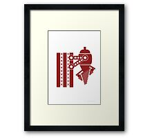 Pun Burrower Framed Print