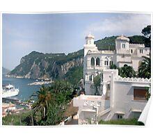 Italy, Capri overlook Poster