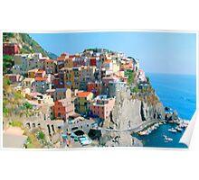 Italy. Cinque Terre - Cliffside Poster