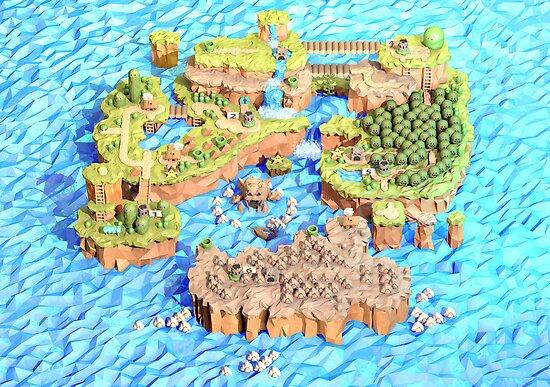 New Super Paper Mario World 3D Deluxe U by Steph Caskenette