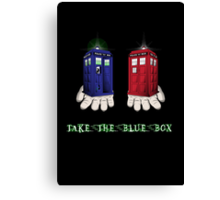 Take The Blue Box Canvas Print