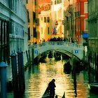Italy. Venice lonely boatman by JessicaRoss