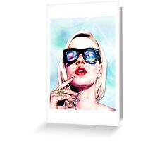 Iggy Azalea- Blue Greeting Card