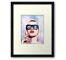 Iggy Azalea- Pink/Purple Framed Print