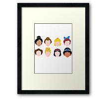 All the Princesses Framed Print