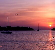 Ocracoke Island Harbor at Sunset by SummerJade