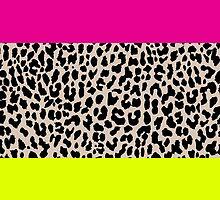 Leopard National Flag X by Mary Nesrala
