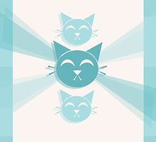 Blue Cats by georgiasdesigns