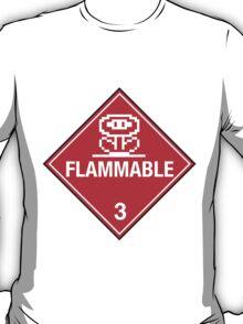 Flower Power Flammable Placard T-Shirt