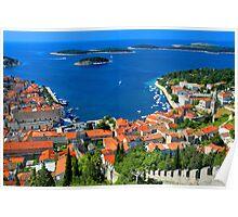 Croatia Coastal line Poster
