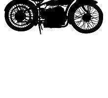 Vintage Motorcycle Silhouette by kwg2200