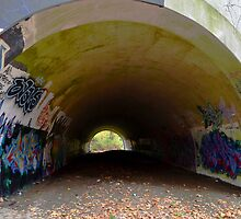 Graffiti in a tunnel - by Schoolhouse62