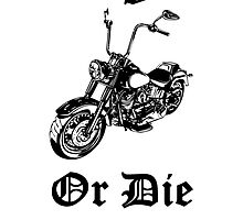 Live Free Or Die Motorcycle by kwg2200