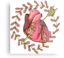 heart anatomical Metal Print