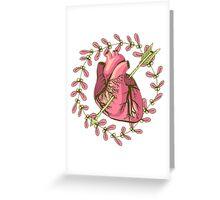 heart anatomical Greeting Card