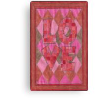 Four Letter words, LOVE Canvas Print