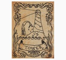 Mermaid Tarot Sticker: The Tower by SophieJewel