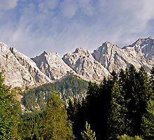 Eibsee, Bavaria, Germany.  Zugspitze mountain in the background  by PhotoStock-Isra