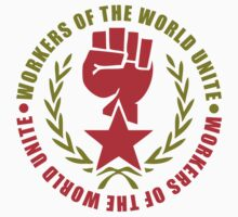 Workers of the World Red Star and Fist Stickers by NeoFaction
