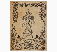 Mermaid Tarot Sticker: Strength by SophieJewel