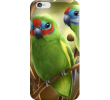 Double-eyed fig parrots iPhone Case/Skin