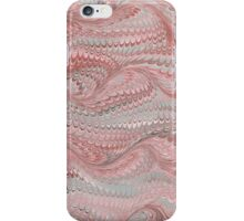 Antique Marbled Paper Pink Grey iPhone Case/Skin