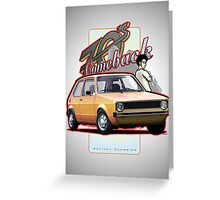 Comeback 70s - Oldtimer Car Greeting Card