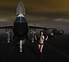 Sky Captain's B58  Bomber, Tower, We have a  problem by Sazzart