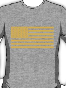 The Wolf Of Wall Street Flag - Yellow T-Shirt