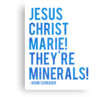 Jesus Christ Marie! They're minerals! Canvas Print