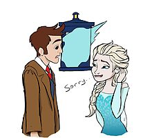 The Doctor meets Elsa by carlaakemi