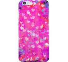 Grunge hearts abstract art II iPhone Case/Skin
