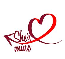 She's mine Heart Design by Style-O-Mat
