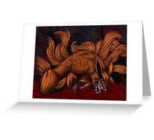 .:Kurama:. The Nine Tailed Fox Greeting Card