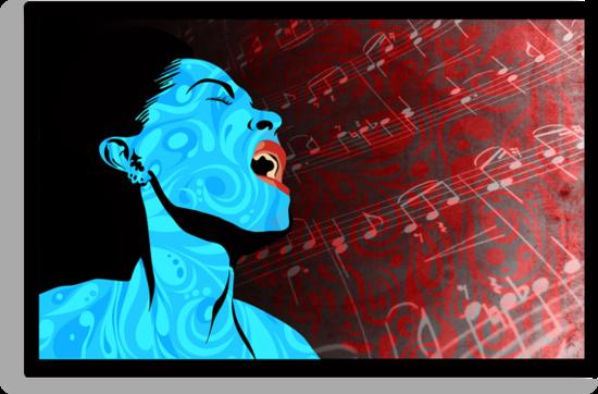 All that Jazz music illustration by SFDesignstudio