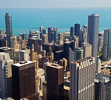 Aerial view of Chicago IL by PhotoStock-Isra