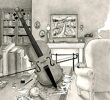 Violin and Sitting-Room by KaizokuShojo