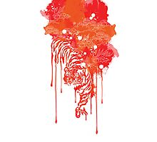Painted tiger Photographic Print