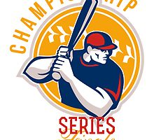 Championship Baseball Series Finals Retro by patrimonio
