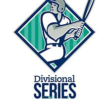 Divisional Baseball Series Finals Retro by patrimonio